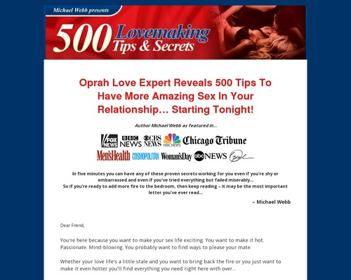 500 Lovemaking Tips