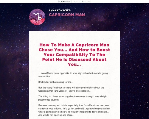 Capricorn Man Secrets — Put That Hot Capricorn Man Under