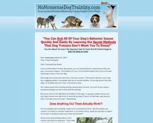 No Nonsense Dog Training
