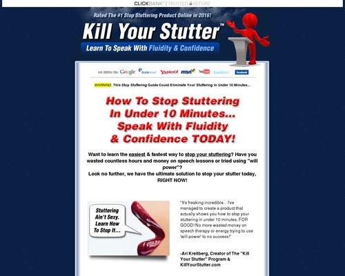 Kill Your Stutter – Learn To Speak Without Stuttering Today