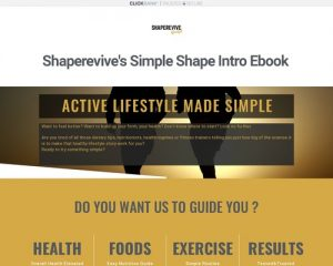 SimpleShapeIntro – Easy, quick method to jump-start your physical condition