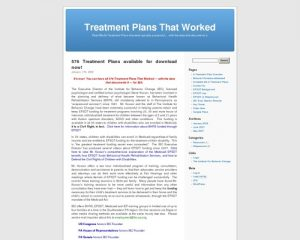 Treatment Plans That Worked | Real-World Treatment Plans that were actually successful... with the data that documents it.