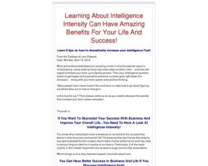 Intelligence Intensity