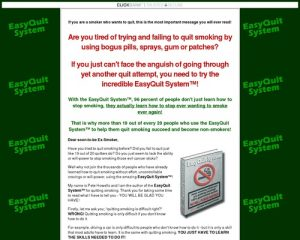 EasyQuit SystemTM - stop smoking program; learn how to quit smoking for good