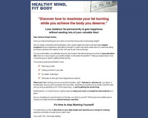 Healthy Mind - Fit Body: Fitness & Weight Loss Psychology for Optimal Nutrition and Proven Results