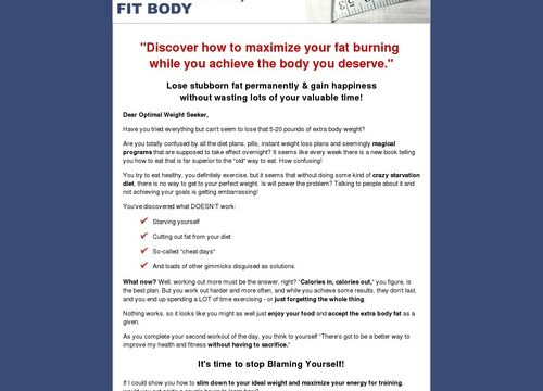 Healthy Mind – Fit Body: Fitness & Weight Loss Psychology for Optimal Nutrition and Proven Results