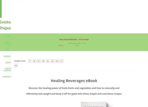 Healing Beverages – Pitch Page – Lenka Pagan