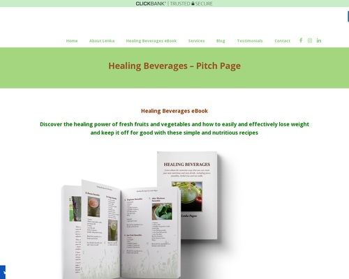 Healing Beverages – Pitch Page – Lenka Pagan